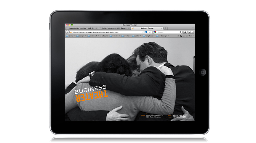 Business Theater, Web Design