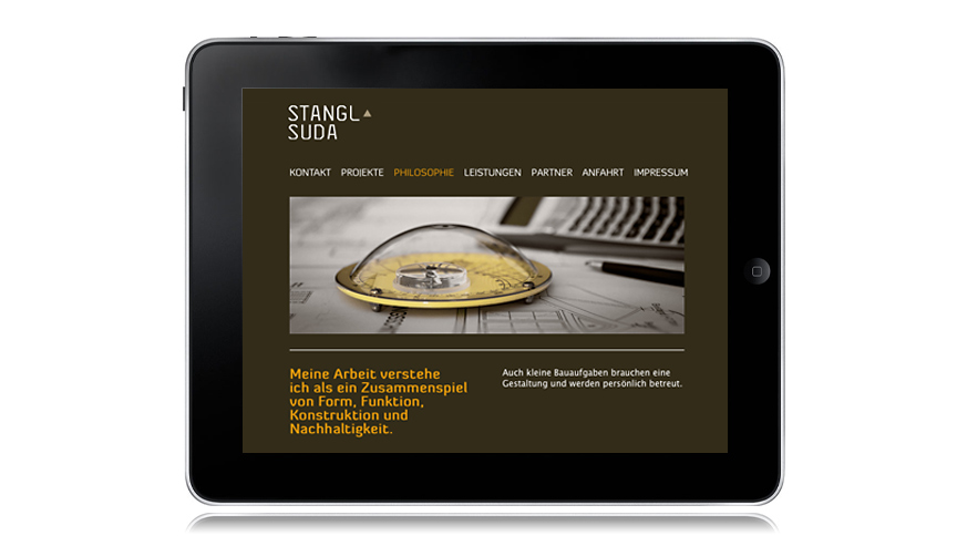 Stangl-Suda, Web Design iPad
