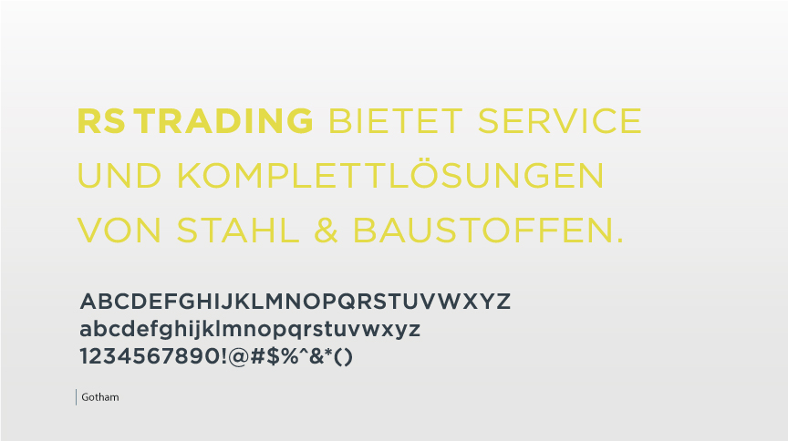 RS Trading, Corporate Typeface