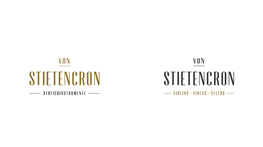 Von Stientencron, Corporate Typeface